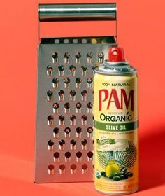 Cooking Spray as Grater Helper | New roles for items that can help you get dinner on the table.