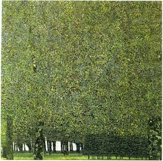 Gustav Klimt. The Park. 1910 or earlier. Source