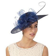 Hatbox Navy flower saucer fascinator | Debenhams