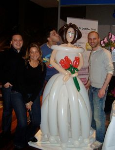 6ft Balloon Bride by Miss Ballooniverse, via Flickr