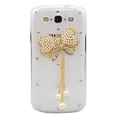 Jewerly Samsung Galaxy J1 Cases Bling Crystal Golden Bowknot Case Cober for Samsung Galaxy J1