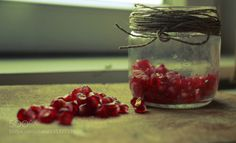 pomegranate in a jar by Daniela25  IFTTT 500px closeup delicious food fresh fruit garlic green healthy indoor natural pepper pomegran