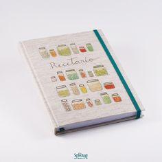 Handmade recipe book. Handpainted design by Dévora printed on cover / Recetario hecho a mano. Cubierta impresa con diseño pintado a mano por Dévora