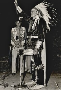 Tsate Kongia or Black Bear or Frank Bosin Sr. (Kiowa) leads an invocational prayer, as an unidentified man holding a flute bows his head - 1946 Native American Drawing, Native American Cherokee, Native American Pictures, Native American Beauty, American Indian Art, Native American Tribes, Native American History, American Indians, Rocky Mountains