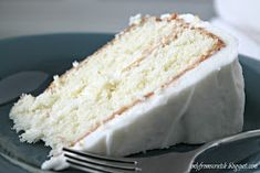 Only From Scratch: Simple Layer Cake with Vanilla Frosting, from Martha Stewart