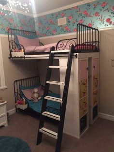 IKEA MINNEN single beds turned into bunk beds