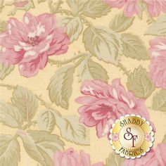 Paris Flea Market by 3 Sisters for Moda Fabrics: This Paris Flea Market fabric is part of the 3 Sisters Favorites collection by Moda Fabrics. This fabric features medium allover pink cabbages roses on yellow background. Paris Flea Markets, Shabby Fabrics, Color Patterns, Pattern Designs, Cabbage Roses, Yellow Background, Pink Roses, Sisters, Quilts
