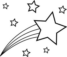Printable Star Coloring Pages - Printable Coloring Pages To Print Shooting Star Clipart, Shooting Star Drawing, Shooting Star Tattoo, Shooting Stars, Star Coloring Pages, Coloring Pages To Print, Printable Coloring Pages, Free Coloring, Coloring Pages For Kids
