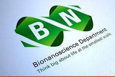 Markant beeldmerk voor Bionanoscience. #logo #roomforids #visueleidentiteit #TUDelft
