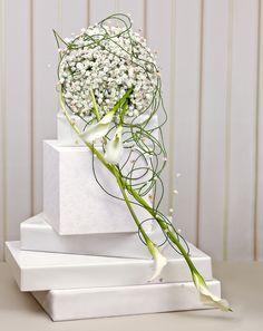 - Brautstrauß Inspirationen Weiß Schleierkraut Calla