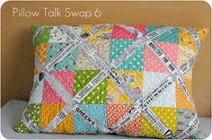 Ta Dah!: Wordy pillow at Badskirt · Quilting | CraftGossip.com