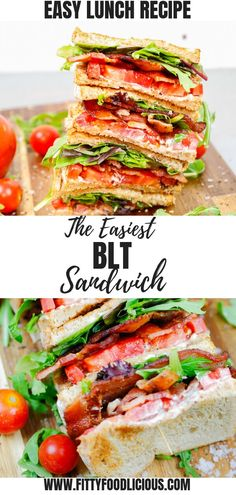The Easiest BLT Sandwich — Welcome to Fitty Foodlicious! Blt Recipes, Wrap Recipes, Sandwich Recipes, Lunch Recipes, Dinner Recipes, Healthy Recipes, Drink Recipes, Delicious Recipes, Food Inspiration