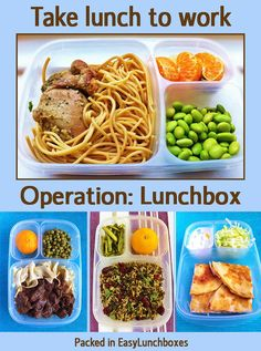 Pack lunch for work! MORE HERE: Lunches for Work including pasta, healthy grains, pizza, chicken and beef. Adult lunches to look forward to.