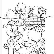 Practical Is Building His Bricks House