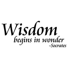 Funny u should say that Socrates... Fear of the Lord is the beginning of wisdom and HE IS wondrous! #irony