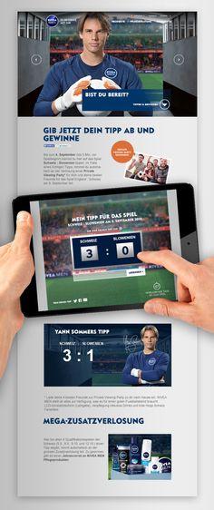 Technisches Konzept, Design, Text & Umsetzung der 2-sprachigen Schweizer Digitalkampagne mit interaktiver Landingpage mit Tippspiel und Content zum Thema EM-Qualifikation der schweizer Mannschaft. Filters, Videos, Men, Design, Swiss Guard, Concept, Tips, Guys