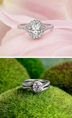 Love this modern engagement ring from Brilliant Earth!