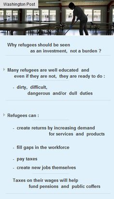 #Refugees can fill gaps in workforce, pay #taxes, create #jobs #US #vc #startup #funding #vc  http://arzillion.com/S/mlYGfy