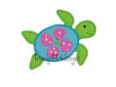 Sea Turtle Applique Design Machine by trendystitchdesigns on Etsy, $3.99