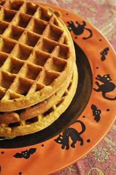 Pumpkin Waffles Halloween Recipe