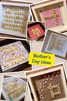 #scrabble #art #mothers day search Kelly's scrabble creations on Facebook