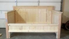 Farmhouse Daybed | Do It Yourself Home Projects from Ana White This is what I have been looking for ... finally