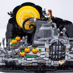 "Lego Fan on Instagram: ""#lego nightmare before Christmas @forceofbricks"" Lego Halloween, Lego Display, Nightmare Before Christmas, Fan, Instagram, The Nightmare Before Christmas, Hand Fan, Fans"