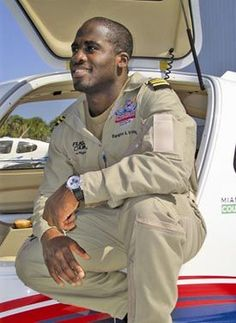 Barrington Irving is the first African American to fly solo around the world and, as of 2010, the youngest person to complete the feat. He made his flight at the age of 23. Irving was born in Kingston, Jamaica on November 11th, 1983