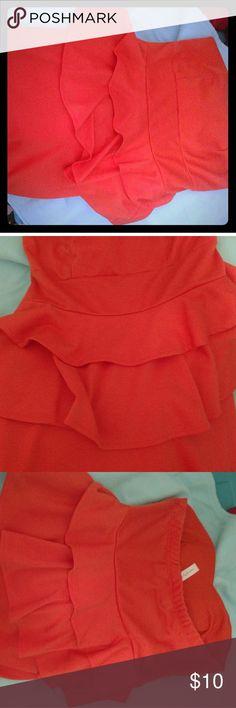 Peplum dress Coral dress Dresses Strapless