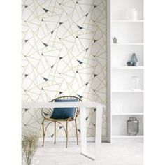 York Wallcoverings Gold Fracture Vinyl Peelable Wallpaper Covers 28 18 Sq Ft Rmk11268wp The Home Depot Modern Wallpaper Accent Wall Peel And Stick Wallpaper Accent Wallpaper