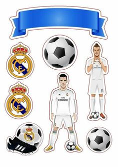 Festa Do Real Madrid, Bolo Real Madrid, Happy Birthday Blue, Soccer Birthday, Birthday Party Themes, Ronaldo Real, Cristino Ronaldo, Barcelona Cake, Lol Doll Cake