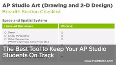 The Art of Ed - The Best Tool to Keep Your AP Studio Students On Track Art Education Projects, High School Art Projects, Art Education Resources, Art School, School Stuff, Painting Lessons, Art Lessons, Ap Drawing, Drawing Ideas