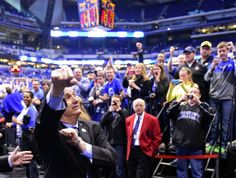 """4/1/14 - """"On this day five years ago, John Calipari was introduced as Kentucky's new head coach. Cal picked the program up, wiped off Billy G's Cheeto dust, and took it back to national prominence in the span of one season. In five years at Kentucky, Cal's brought in five straight #1 recruiting classes, sent 17 players to the NBA, gone to three Final Fours, and won a National Title. That is unbelievable..."""""""
