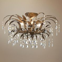 "Kathy Ireland 21"" Wide French Garden Ceiling Light Fixture -"