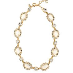 J.Crew Crystal Color Mix gold-plated glass stone necklace ($200) ❤ liked on Polyvore featuring jewelry, necklaces, accessories, j.crew, crystal jewelry, crystal stone jewelry, gold plated necklace, glass bead jewelry y glass bead necklace