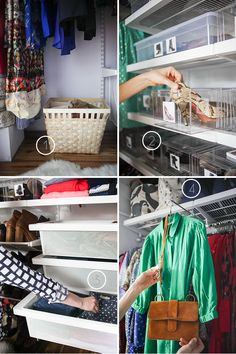 Emily Henderson's awesome closet - love the little spot to hang outfits when you're getting ready
