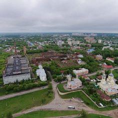 """""""Repost from @sergnl_19 #Серпухов остатки фабрики Коншиных с высоты"""""""
