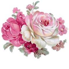 Vintage printable roses: