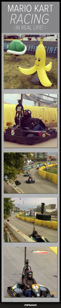 Add this to Mario Kart Go-Kart racing to your geek bucket list.