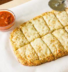 Pizza de quinoa queijo e alho