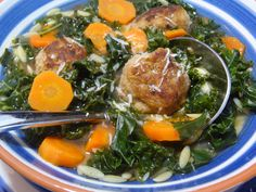Kale with Meatball Soup recipe from Tia Maria's Blog