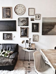 black + white gallery wall & space