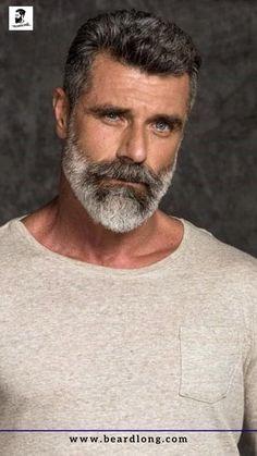 Medium Beard Styles, Long Beard Styles, Beard Styles For Men, Grey Beards, Long Beards, Silver Foxes Men, Mature Mens Fashion, Beard Images, Beard Look
