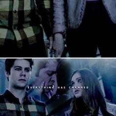 everything has changed. Teen Wolf Stydia, Teen Wolf Cast, Stiles And Lydia, Teen Wolf Funny, Everything Has Change, Vampires And Werewolves, Lydia Martin, Sterek, Dylan O'brien