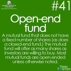 Open end fund