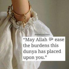 Allah will ease your burdens Islamic Qoutes, Islamic Prayer, Islamic Images, Islamic Messages, Islamic Pictures, Religious Quotes, Islam Muslim, Allah Islam, Islam Quran