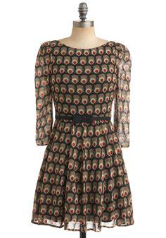I Want It Olive Dress | Mod Retro Vintage Printed Dresses | ModCloth.com