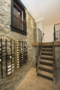 Historic Renovation in West Chester, PA - traditional - wine cellar - philadelphia - Pine Street Carpenters & The Kitchen Studio Wine Rack Design, Wine Cellar Design, Wine Rack Wall, Wine Wall, Wine Racks, Under Stairs Wine Cellar, Modern Wine Rack, Wine Display, Display Wall