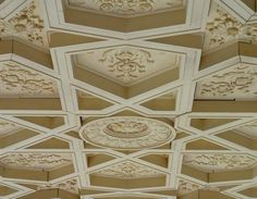 Gabriel McKeagney copies Hearst ceilings in solid wood and MDF, cut to fit Wood, Wood Kitchen, Hearst Castle, Blacksmithing, Millwork, Ceiling, Woodworking, Recycled Wood, Wine Cellar