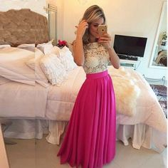 Fashion Fuchsia Lace Long Evening Dress Formal Pageant Celebrity Party Prom Gown | eBay